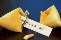 Fortune cookie wedding proposal