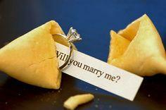 Fortune cookie wedding proposal