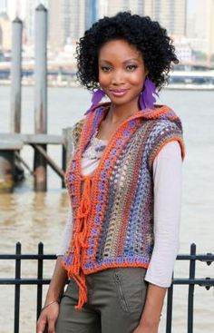 Hoodie Vest crochet pattern