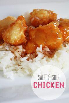 My favorite sweet & sour chicken. Yum yum yum.