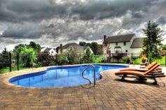 In ground pool in central PA, Goodall Pools & Spas. Camp Hill, In Ground Pools, Carlisle, Spas, Swimming, Outdoor Decor, Swim, Swat