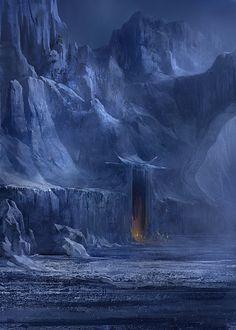 Snowy lair by gerezon.deviantart.com on @deviantART