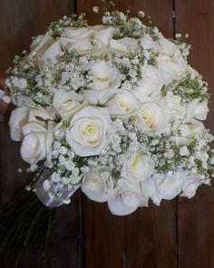 White The Colour Of Bride 💎 Flower Bouquet Wedding, Rose Bouquet, Greece Wedding, White Roses, Flower Art, Floral Wreath, Wedding Day, Wreaths, Colour