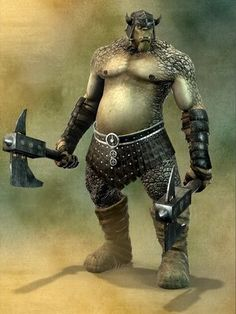 Ogres are massive Humanoids of rough and unpleasant appearance, bad temper and very guerrilla, whose origin is in several mythologies of the world.  An ogre is about 3 m high, its foul odor is noticeable enough distance.  The ogres live in tribes and are well adapted to any climate, so that they can be found in mountains, plains and secarrales.  An ogre living in ambushes, raids and looting. His intelligence is not too high, so it cannot be expected to use many combat tactics. The smarter…