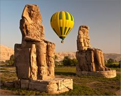 Hot Air Balloon Tour - Luxor West Bank ... For unbeatable views of Luxor's famous temples, take a hot-air balloon flight over the Nile River's west bank. Away from the crowds in the peaceful glow of dawn, your sunrise flight over Egypt's ancient monuments promises to be a highlight of your visit.