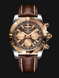 The Chronomat 44 is the leading Breitling collection. Its powerful and unique style makes it THE chronograph for all pilots. Versions