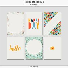 Free Color Me Happy Journal Cards from Dúnia Designs {newsletter subscription required}