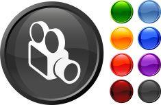 modern film camera internet royalty free vector art vector art illustration