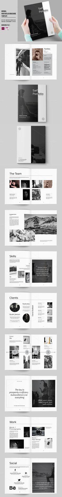 InDesign Portfolio Brochure-V430. Wedding Fonts. $14.00