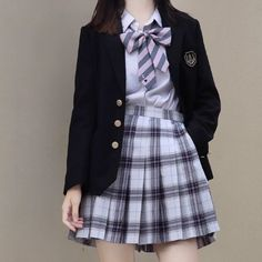 Edgy Outfits, Korean Outfits, Cute Casual Outfits, Girl Outfits, Korean Girl Fashion, Ulzzang Fashion, Japanese Fashion, School Uniform Outfits, School Girl Outfit