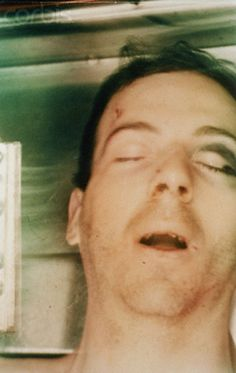 """Lee Harvey Oswald post-autopsy viewed through body bag. Description from <a href=""""http://corbisimages.com"""" rel=""""nofollow"""" target=""""_blank"""">corbisimages.com</a>. I searched for this on bing.com/images"""