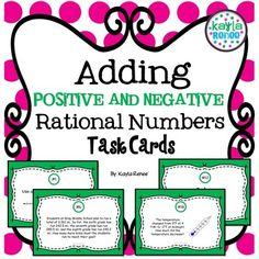 Adding and Subtracting Rational Numbers Task Cards: 7.NS.1