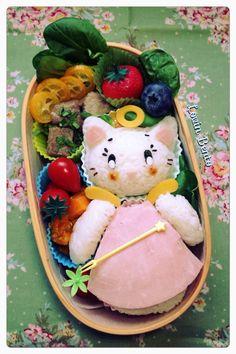 Kawaï character Tenshi Neko ( angel cat) #cutebento #cutelunchbox #kawaï #lovinbento