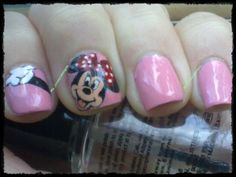 Minnie Mouse nails Minnie Mouse Nails, Nail Colors, Manicure, Nail Art, Pretty, Beauty, Beautiful, Nail Bar, Nails