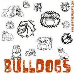 School Spirit Wear T Shirts Apparel - School Spirit Shirts Made Easy School Spirit Wear, School Spirit Shirts, Bulldog Clipart, Bulldog Drawing, Fall Wood Signs, Bulldog Mascot, Painted Toms, Cheer Shirts, School Fundraisers
