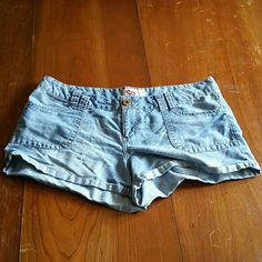 Jean shorts Really comfy I just have way too many and these ones are a little tight on my thighs and I don't wear them! Super cute though! SO Shorts Jean Shorts