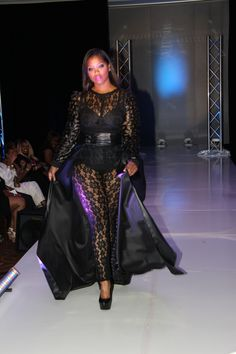 Marco Hall Curves Rock runway show