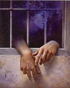 """Alberto Pancorbo - painting (On my board """"looking out the window"""". Irit Volgel)"""