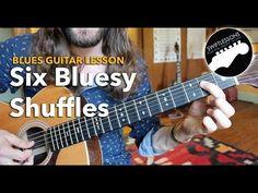 Six Bluesy Shuffles - A Rhythm Guitar Lesson - YouTube