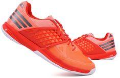 detailed look 8cdb0 4e1f9 adidas ADIZERO UEBERSCHALL F 7.1 Unisex Badminton Shoes Racquet Red NWT  BB6318
