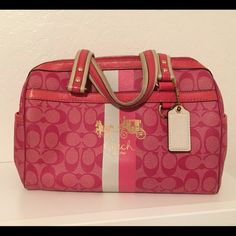 Coach pink satchel Great condition, no fraying , fading or holes , just a little dirty. Please no lowballing Coach Bags Satchels