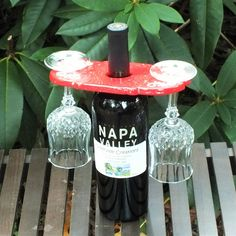 Wine Glass Holder (display) Glaze: Red Sprinkles  ~Ginger Spice Collection