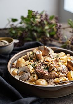 Ossobuco and clams (slow cooker) Confort Food, Pork Ham, Pork Dishes, Pork Recipes, Slow Cooker, Clean Eating, Good Food, Food And Drink, Cooking