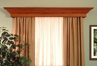 The Danville custom wood cornice has colonial crown molding and large dentil molding details. It's the perfect wood valance for your home. Wood Valances For Windows, Window Cornices, Wood Windows, Interior Window Trim, Interior Sliding Barn Doors, Home Interior, Interior Design, Cornice Design, Window Design
