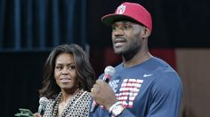 AFRICAN AMERICAN REPORTS: LeBron James, first lady Michelle Obama promote higher education