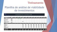 Planilha de análise de investimento Excel