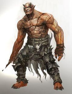 kekai kotaki - Guild Wars 2 Ogre artwork and concepts I did Fantasy Warrior, Fantasy Races, High Fantasy, Fantasy Art, Fantasy Monster, Monster Art, Fantasy Creatures, Mythical Creatures, Humanoid Creatures