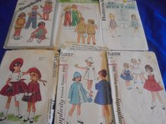 All Sz 2 U Pick  Childrens  Sewing Patterns by AngieFoundit4U