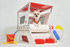 Lifeguard Doghouse by Unleash Studio. For dogs who are on duty.