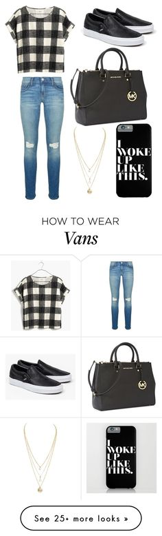 """Check"" by tigerlily789 on Polyvore featuring mode, Madewell, Rebecca Minkoff, Vans et Michael Kors"