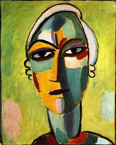 Mystical Head Galka Fatum Fate Paintings | Alexei Jawlensky paintings