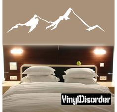 Mountains Wall Decal - Vinyl Decal - Car Decal - MC17