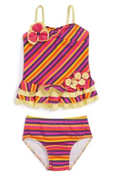 d0ac1e84fd Isobella & Chloe 'Hawaiian Punch' Two-Piece Swimsuit (Toddler Girls) |  Nordstrom
