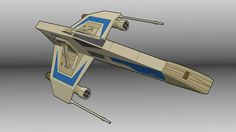 Star Wars - Republic E-wing Escort Starfighter Free Papercraft Download