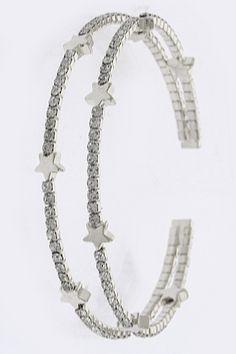 Crystal Star Bracelet in Gold & Silver