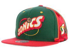 e70636e4c73c Seattle SuperSonics Mitchell   Ness NBA Game Day Snapback Cap