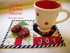Holiday Mug Rug Tutorial - The Crafty Quilter
