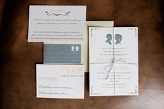 Wedding stationery that plays with silhouettes // Weddings at The Crosby Club in Rancho Santa Fe