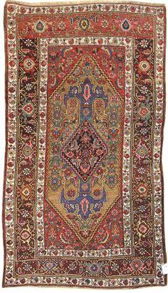 Persian Kurdish Bidjar rug, ca 1890, Landry and Arcari gallery