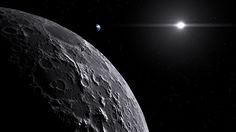 Lunar orbiter scene made with #Blender