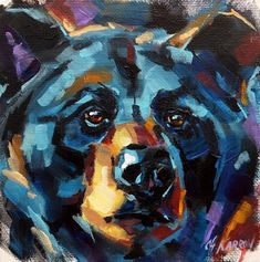 "Daily Paintworks - ""Black Bear"" by Christine Karron"