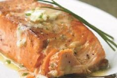 Grilled salmon with habanero lime butter