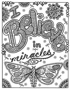 INSTANT Download Believe In Miracles Coloring by ChubbyMermaid, $1.99