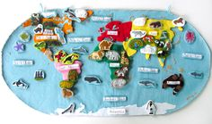 Animals of Asia for the Montessori Wall Map & Quietbook with Printables