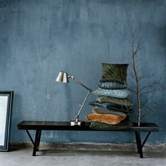 "Lime paint inspiration Reminds me of ""Country Blue"" Fresco lime paint by Pure & Original - Half bath? Interior Design Trends, Interior Inspiration, Interior Decorating, Autumn Decorating, Decorating Kitchen, Colour Inspiration, Autumn Inspiration, Decorating Tips, Interior Styling"