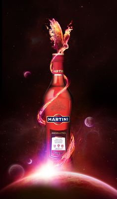 Martini Rosato by Marcus Avedis, via Behance